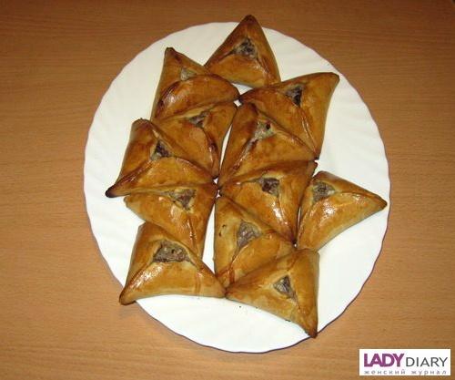 Рецепт мясных треугольников