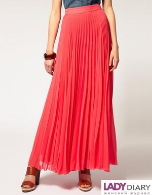 Длинные юбки в гармошку
