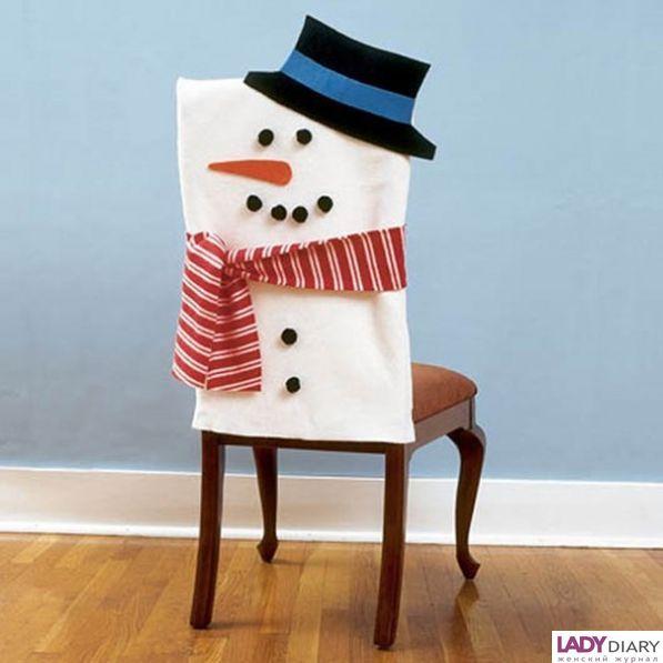 Новогоднее  украшение  на  спинки  стульев.  Фото  11