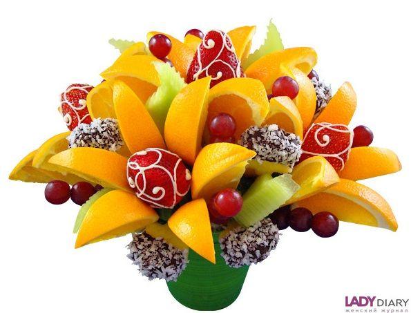 Оригинальные букеты из фруктов своими руками