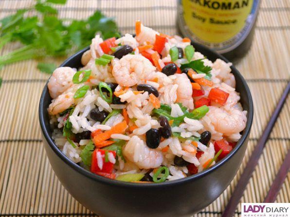 Салат с креветками и рисом рецепт с очень вкусный