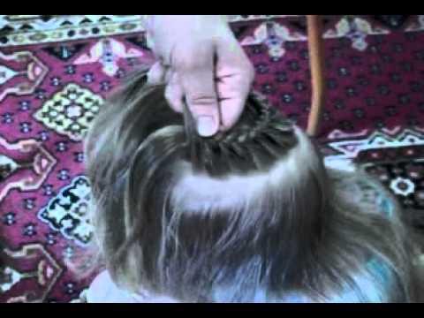 Смотреть Прическа для девочки Корзиночка.mp4 HD 480p видео.